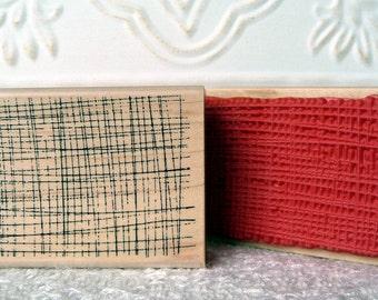 Mesh Background rubber stamp from oldislandstamps