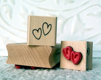 Mini Hearts rubber stamp from oldislandstamps