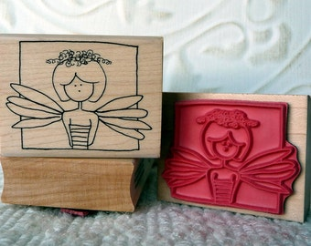 Ms. Fairy rubber stamp from oldislandstamps