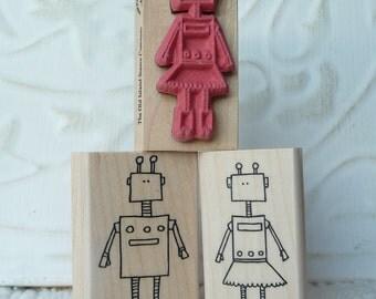 She Robot rubber stamp from oldislandstamps