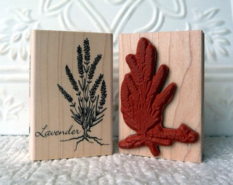 Lavender rubber stamp from oldislandstamps