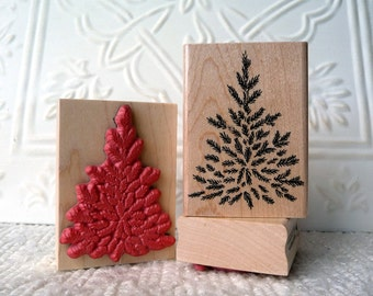 Steve's Christmas Tree rubber stamp from oldislandstamps