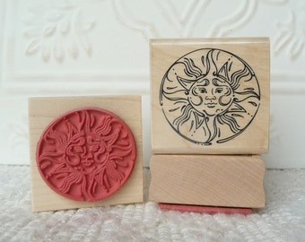Circle Sun rubber stamp from oldislandstamps