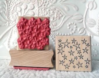 Star background rubber stamp from oldislandstamps
