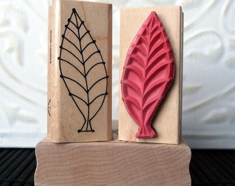 Fishbone Leaf rubber stamp from oldislandstamps