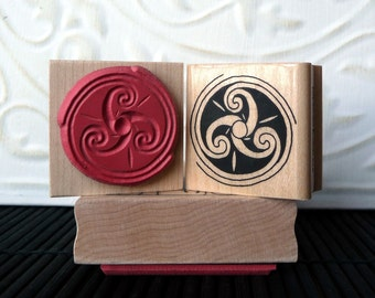 Triskele rubber stamp from oldislandstamps
