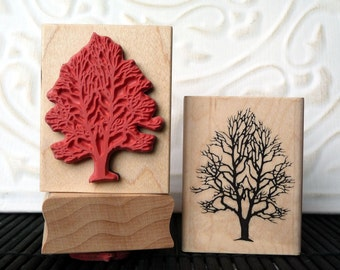 Tree rubber stamp from oldislandstamps