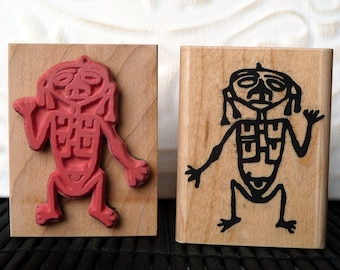 Petroglyph rubber stamp from oldislandstamps