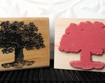 Shaggy Tree rubber stamp from oldislandstamps