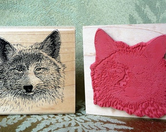 Coyote rubber stamp from oldislandstamps