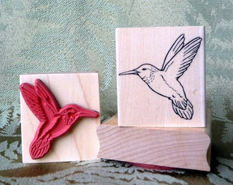 Hummingbird rubber stamp from oldislandstamps
