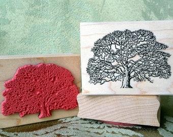 Oak Tree rubber stamp from oldislandstamps