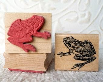 Frog rubber stamp from oldislandstamps