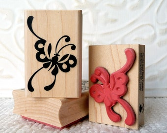 Asian Butterfly rubber stamp from oldislandstamps