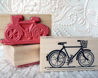 Bicycle rubber stamp from oldislandstamps