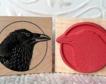 Raven rubber stamp from oldislandstamps