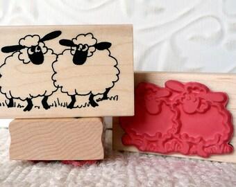 Sheep rubber stamp from oldislandstampstamps