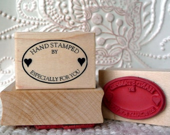 Handstamped Especially For You rubber stamp from oldislandstamps