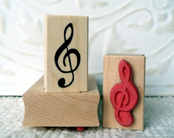 Treble Clef Music rubber stamp from oldislandstamps