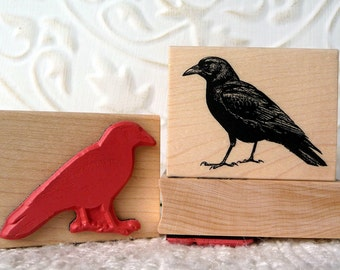 Common Crow rubber stamp from oldislandstamps