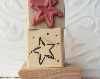Star rubber stamp from oldislandstamps