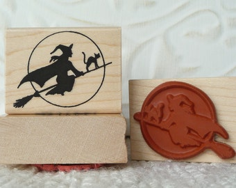 Witch rubber stamp from oldislandstamps
