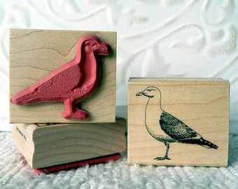 Seagull rubber stamp from oldislandstamps