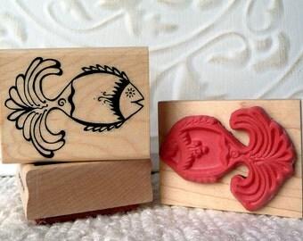 Funky Fish rubber stamp from oldislandstamps