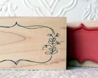 Organic Frame rubber stamp from oldislandstamps
