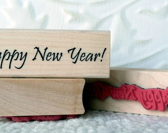 Happy New Year rubber stamp from oldislandstamps