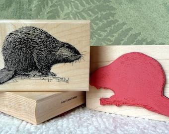 Beaver rubber stamp from oldislandstamps