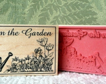 From the Garden of rubber stamp from oldislandstamps