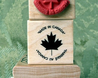 Made in Canada rubber stamp from oldislandstamps
