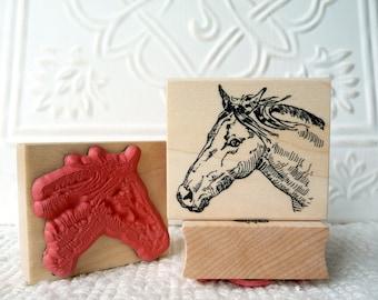 Horse rubber stamp from oldislandstamps