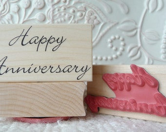 Happy Anniversary rubber stamp from oldislandstamps