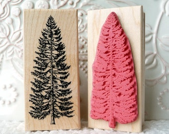 Spruce Tree rubber stamp from oldislandstamps