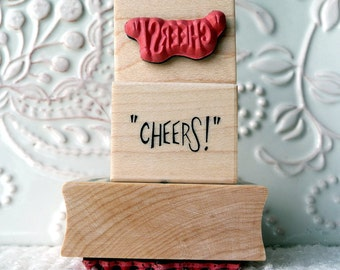 Cheers rubber stamp from oldislandstamps