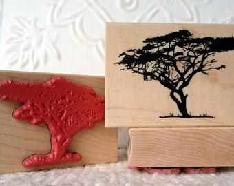 Serengeti Tree rubber stamp from oldislandstamps