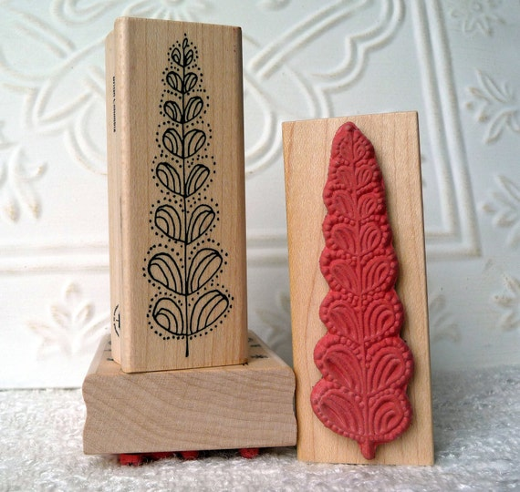 Emily's Christmas Tree rubber stamp from oldislandstamps