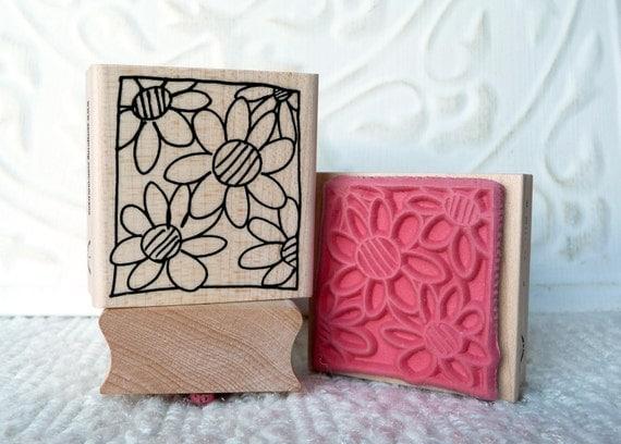 Framed Blooms rubber stamp from oldislandstamps