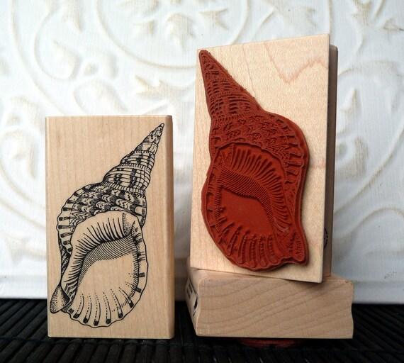 Shell rubber stamp from oldislandstamps