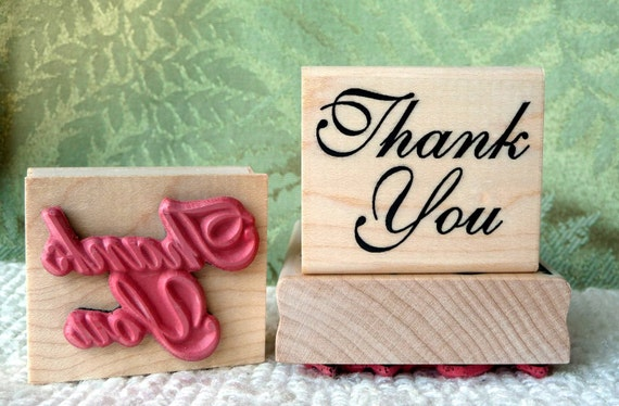 Thank You rubber stamp from oldislandstamps