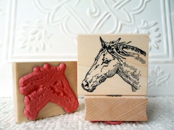 Horse rubber stamp from oldislandstamps