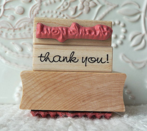 Tiny thank you rubber stamp from oldislandstamps