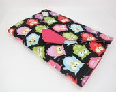 List Taker - ForgetME Not Notepad Clutch - Colorful Owls - Made to Order