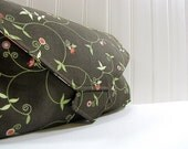 SALE All-in-1 Changing pad clutch - WipeME 'N DipeME Clutch - Abigail's Garden - Ready to Ship