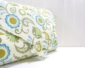 All-in-1 Changing Pad Diaper Clutch - WipeME 'N DipeME - Squash Blossom - Wipeable Waterproof lining