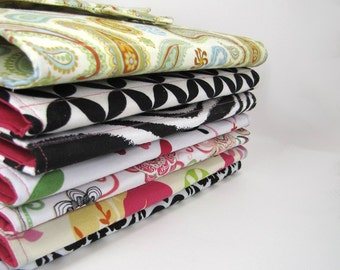 Note Taker -  ForgetME Not Notepad Clutch - Custom - You choose fabric