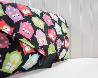 Diaper Changing Pad Clutch - All in One Diaper Clutch - WipeME 'N DipeME Clutch - Snoozing Owls