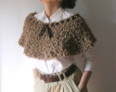 Nut Brown Capelet